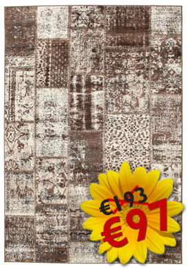 Tapis Weimar Patchwork - Brown RVD3950