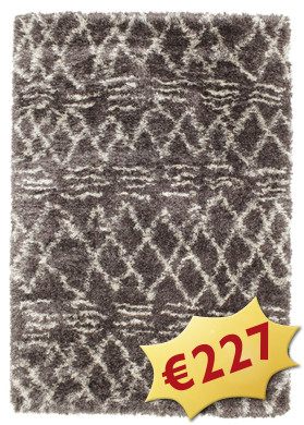 Tapis Berber style Shaggy Fence - Grey RVD5550