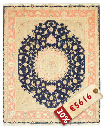 Tappeto Tabriz 50 Raj con seta VAZZV37