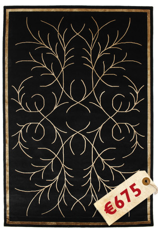 Ice Flower - Black carpet CVD3616