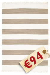 Cotton stripe - Brown Teppich CVD4895