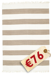 Alfombra Cotton stripe - Brown CVD4904