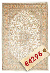 Kashmir pure silk carpet VXZZK184
