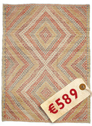 Kilim semi antique Turkish carpet XCGH1520