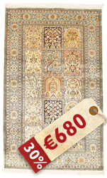 Kashmir pure silk carpet VEXG224