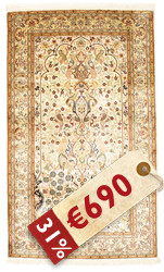 Kashmir pure silk carpet VEXG223