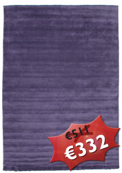 Handloom fringes - Purple rug CVD7677