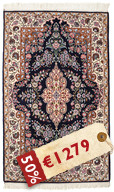 Isfahan silk warp signed: Seirafian carpet HDS267