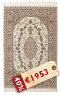 Isfahan silk warp signed: Dari carpet HDP1116