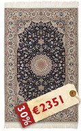 Isfahan silk warp signed: Abtin carpet HDP1117