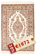 Isfahan silk warp signed: Seirafian carpet HDS263
