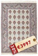 Isfahan silk warp signed: Seirafian carpet HDS247