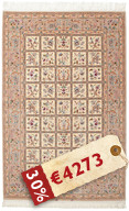 Isfahan silk warp signed: Rafei carpet HDP1098