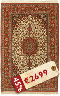 Isfahan silk warp signed: Seirafian carpet AMT439