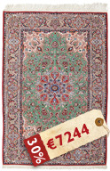 Isfahan silk warp carpet HE8