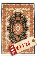 Tabriz 50 Raj with silk carpet VAZZU54