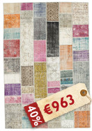 Patchwork Teppich BHKI299