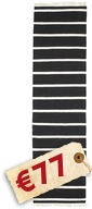 Dhurrie Stripe - Black/White carpet CVD5205