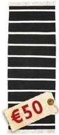 Dhurrie Stripe - Black/White carpet CVD5209
