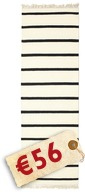 Dhurrie Stripe - White/Black carpet CVD1659