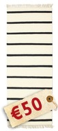Dhurrie Stripe - White/Black carpet CVD5211
