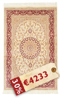 Qum silk signed: Kazemi carpet RZZO2