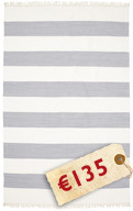 Cotton stripe - Steel Blue carpet CVD4915