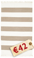 Cotton stripe - Brown carpet CVD4907