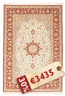 Isfahan silk warp signed: Davari carpet RZZZA23