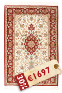 Isfahan silk warp signed: Mansori carpet RZZZB15