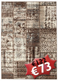 Tapis Weimar Patchwork - Brown RVD3949