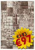 Weimar Patchwork - Brown rug RVD3950