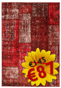 Tapis Weimar Patchwork - Red RVD3948