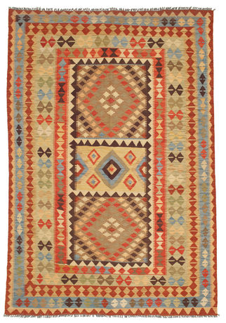 Kilim Afghan Old style carpet SER349