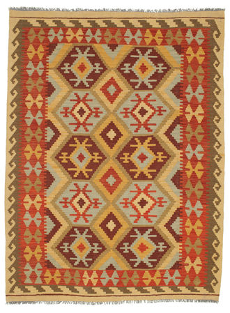Kilim Afghan Old style carpet SER347