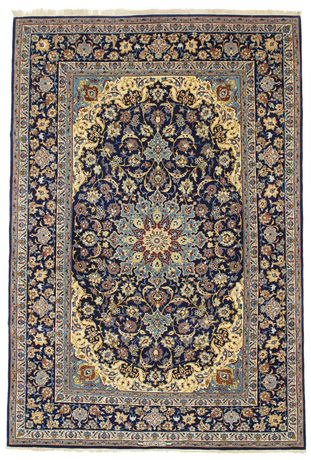 Isfahan silk warp signed: Enteshari carpet VEXN10