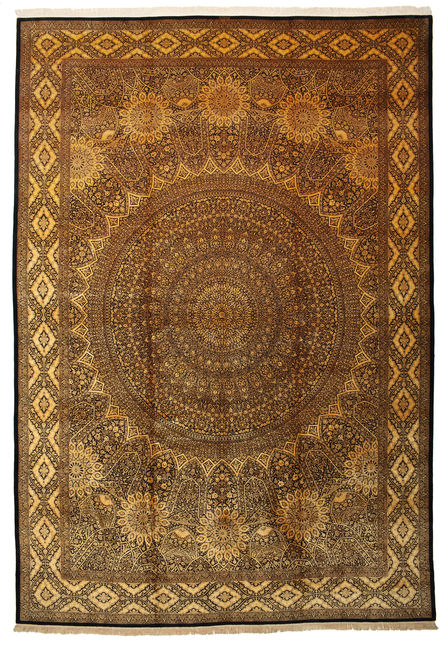 Qum silk signed: Iran Qum Jamshidi 500x340