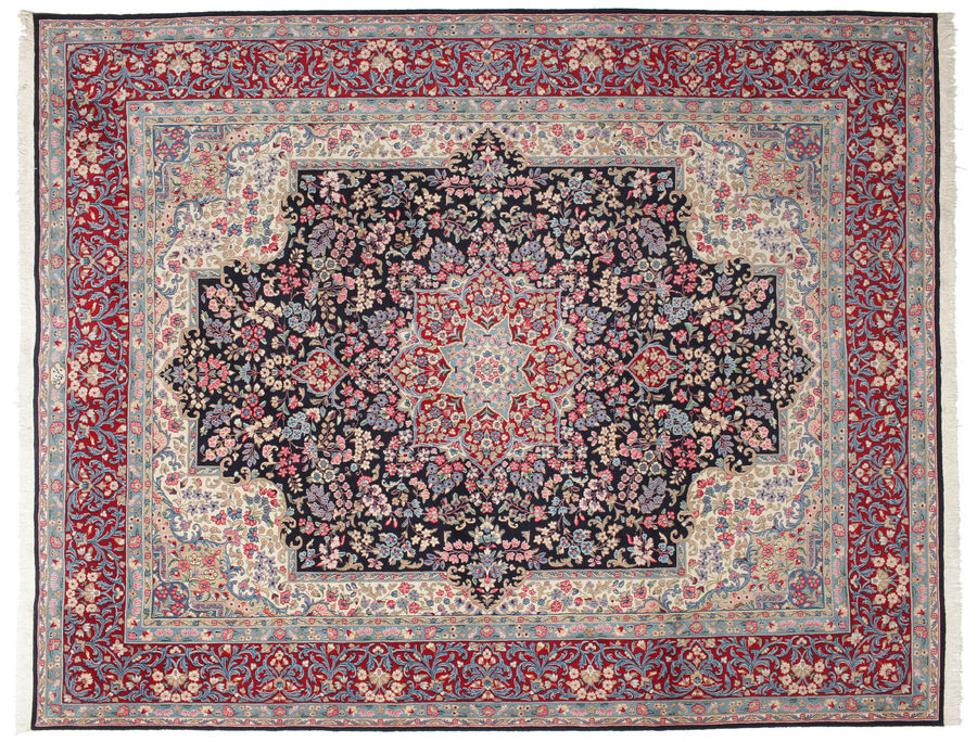 Kerman signed: Gafari carpet 385x308