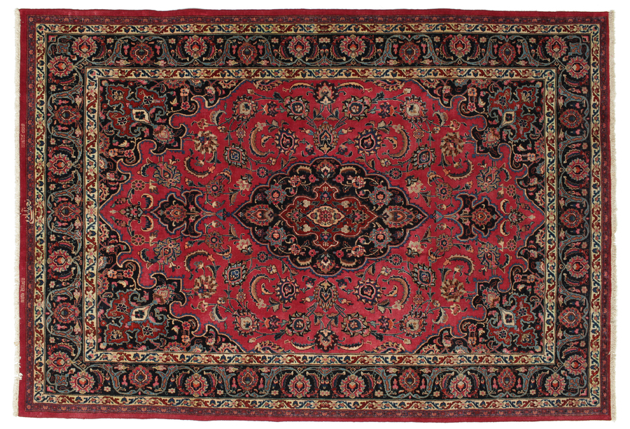 Mashad Patina signed: Najafabadi carpet 289x199