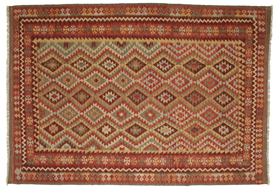 Kilim Afghan Old style carpet 300x205