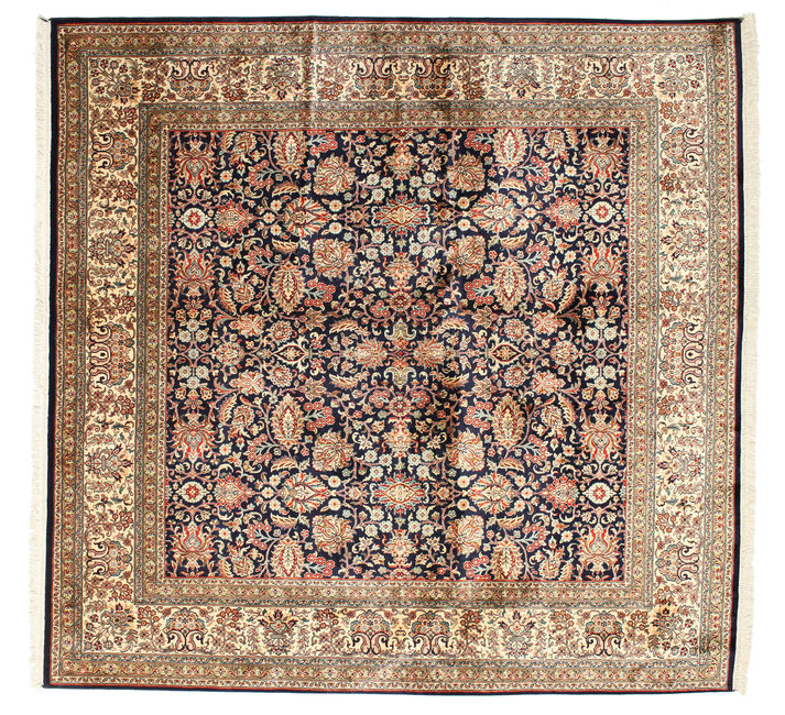Kashmir pure silk carpet 188x184