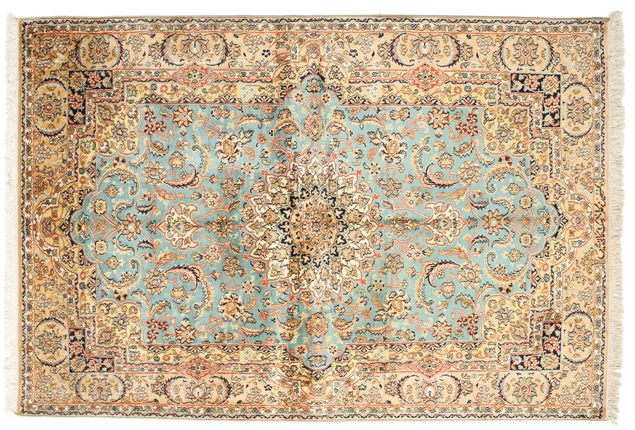 Kashmir pure silk carpet 185x127