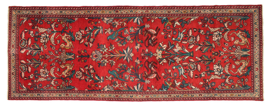 Hamadan Patina pictorial carpet 300x110