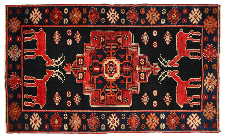 Hamadan Patina pictorial carpet 209x125