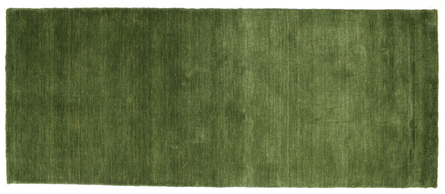 Handloom - Green carpet 200x80