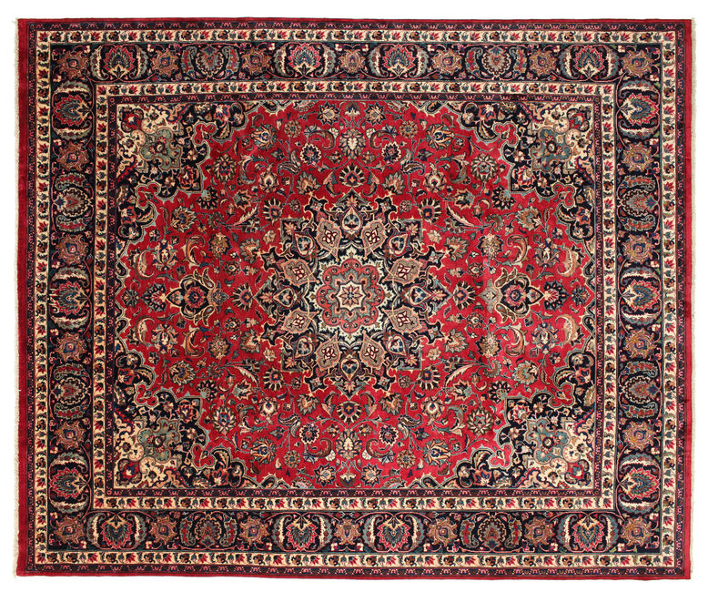 Mashad signed: Akhavan carpet 351x297