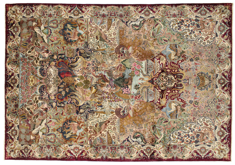 Kashmar pictorial carpet 350x242