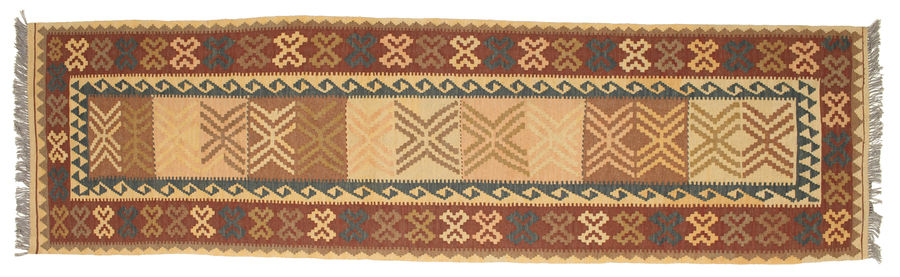 Kilim Afghan Old style carpet 300x82