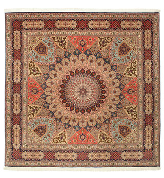 Tabriz 50 Raj with silk carpet 254x250