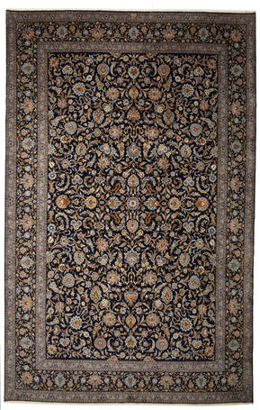 Keshan signed: Parvari carpet 615x400